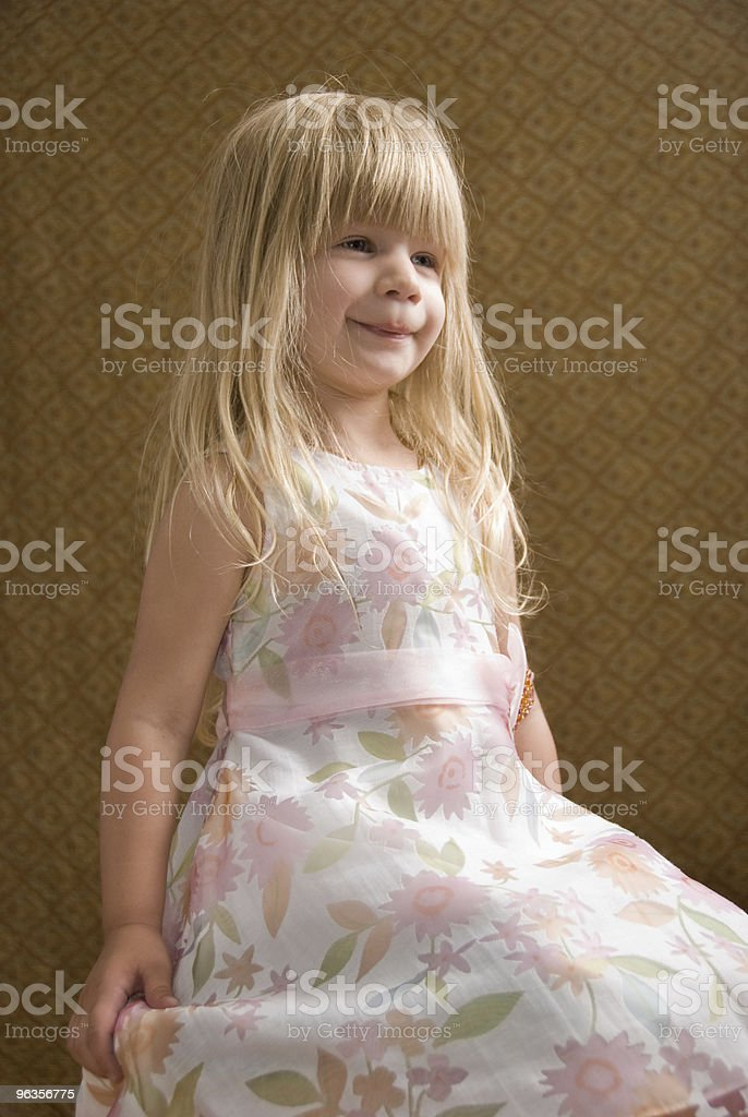 Posing Young Blond Girl royalty-free stock photo