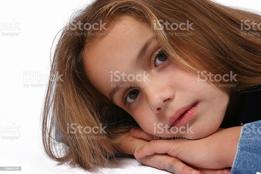 Posing young girl stock photo