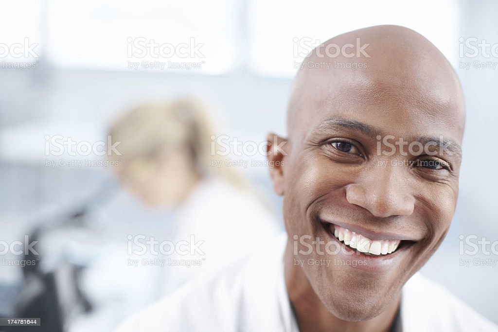 Positive about his work royalty-free stock photo