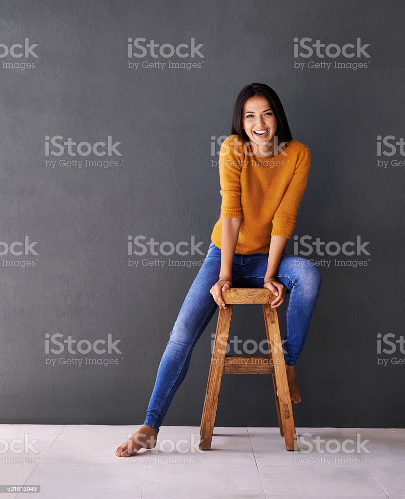Positive and carefree stock photo