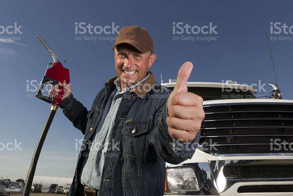 Positive at the Pump royalty-free stock photo