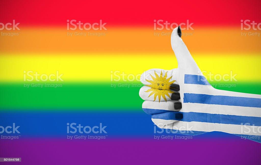 Positive attitude of Uruguay for LGBT community stock photo
