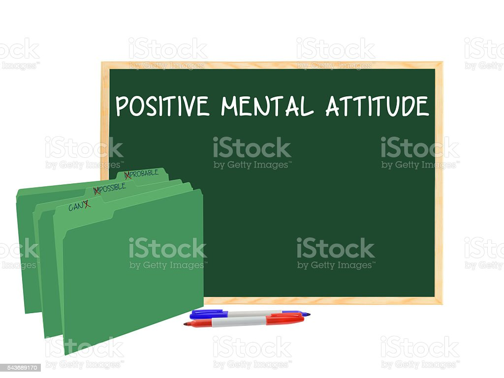 Positive Attitude (Can, Possible, Probable) stock photo