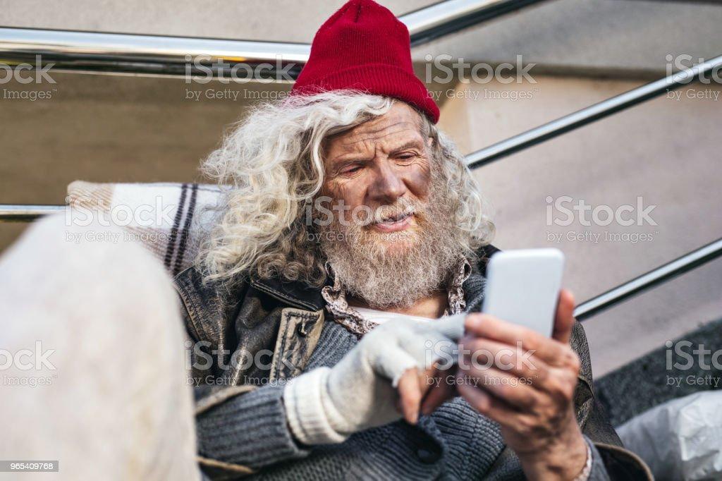 正面鬍子人微笑 - 免版稅互聯網圖庫照片
