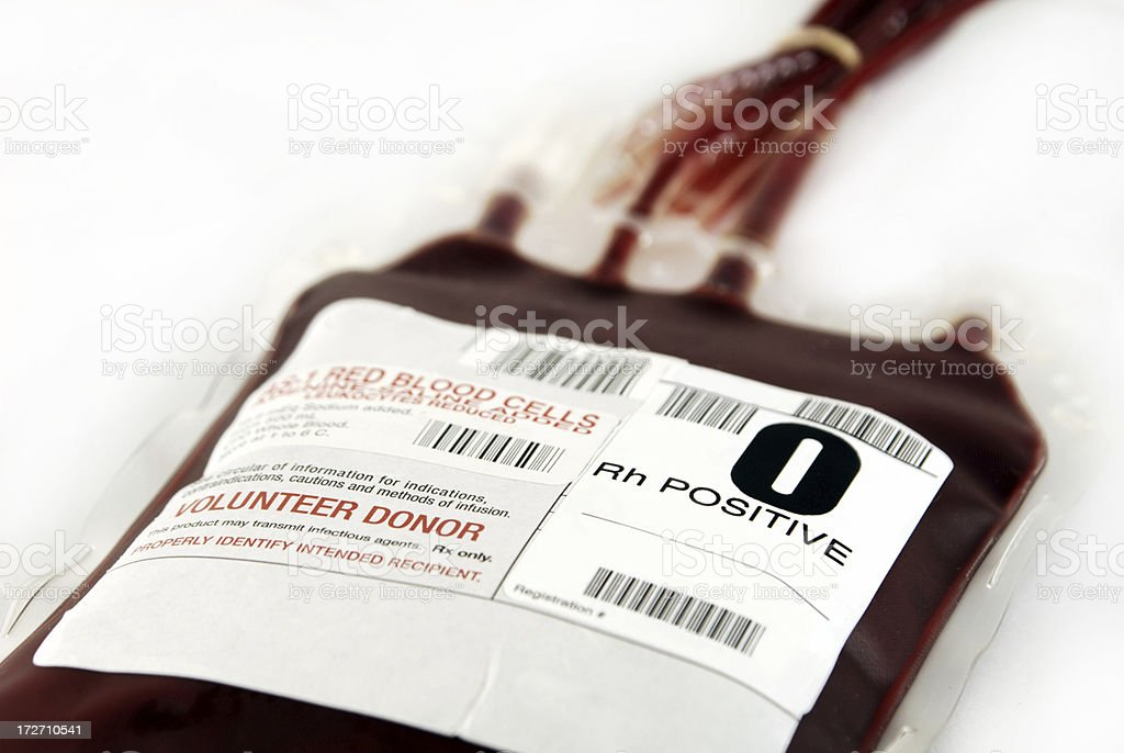 O positive blood royalty-free stock photo