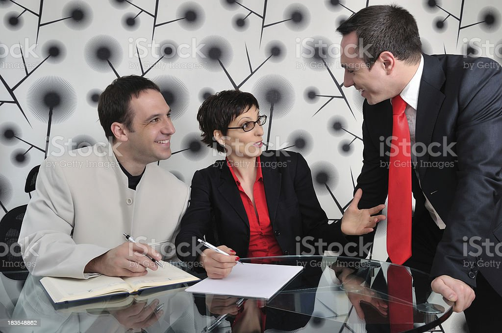 Positive business meeting royalty-free stock photo