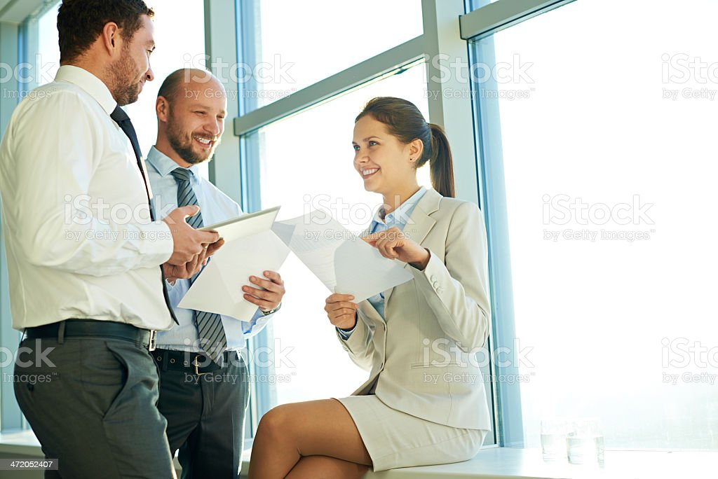 Positive business royalty-free stock photo