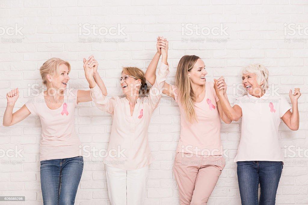 Positive cancer survivors - Lizenzfrei Aktivitäten und Sport Stock-Foto