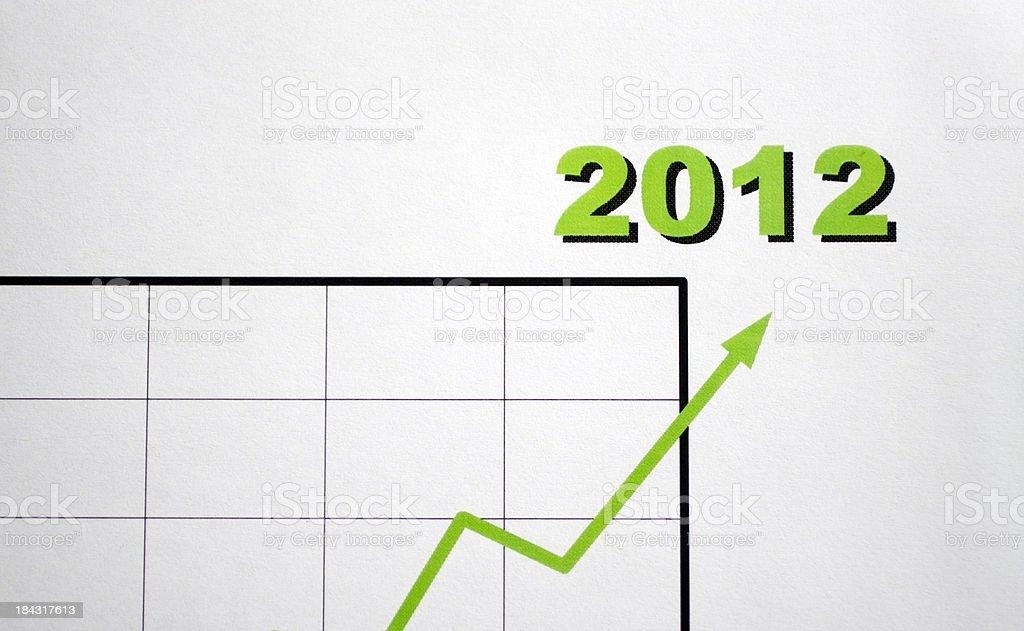 Positive chart 2012 royalty-free stock photo