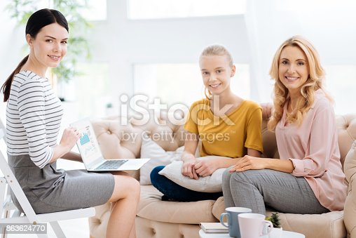 istock Positive cheerful people looking at you 863624770