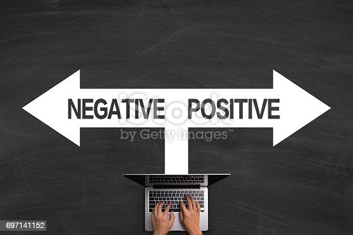 istock Positive Concept With Laptop On Blackboard 697141152