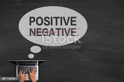 istock Positive Concept With Laptop On Blackboard 697148762