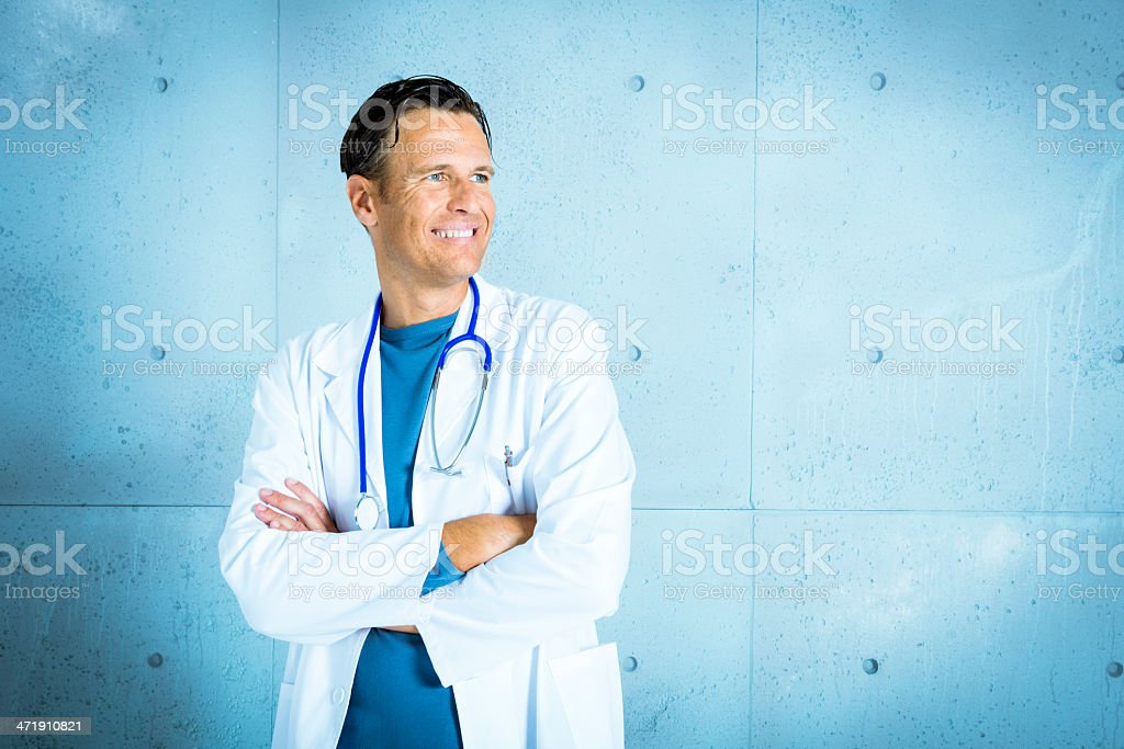 Positive doctor royalty-free stock photo