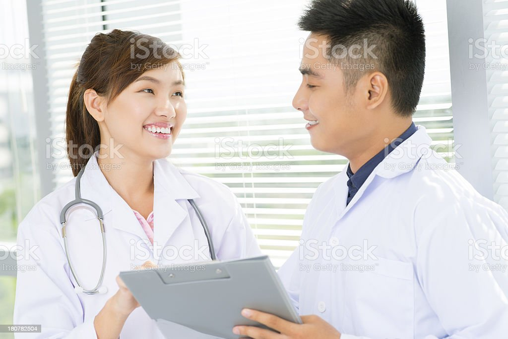 Positive doctors royalty-free stock photo