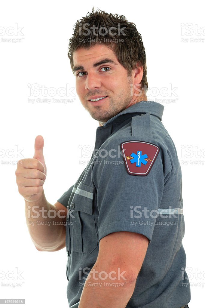 Positive Expression Professional Paramedic royalty-free stock photo