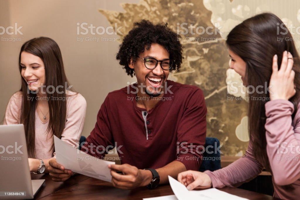 Positive Feedback From Co-workers stock photo