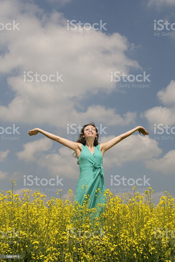 positive health and well-being royalty-free stock photo