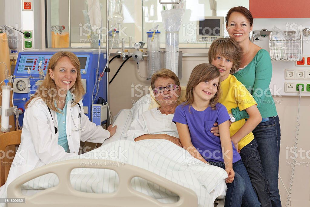 positive hospital visit royalty-free stock photo
