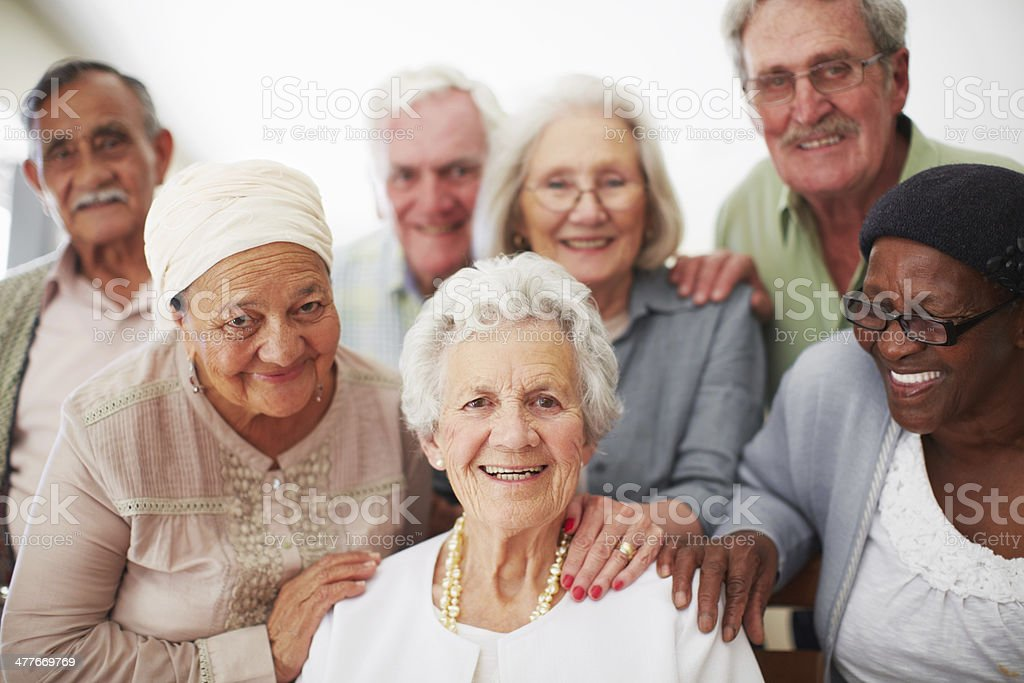 Positive in their senior years stock photo