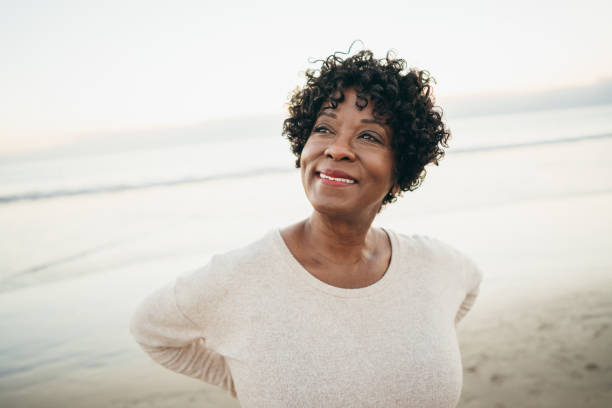 Positive living 60 years old women african american ethnicity stock pictures, royalty-free photos & images