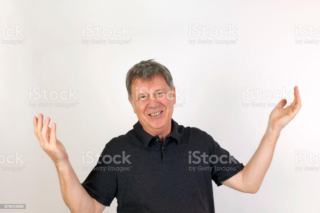 pozitif Elli yaşında bir adam arıyorum stok fotoğrafı