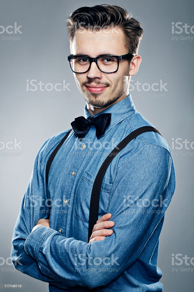 Positive man stock photo
