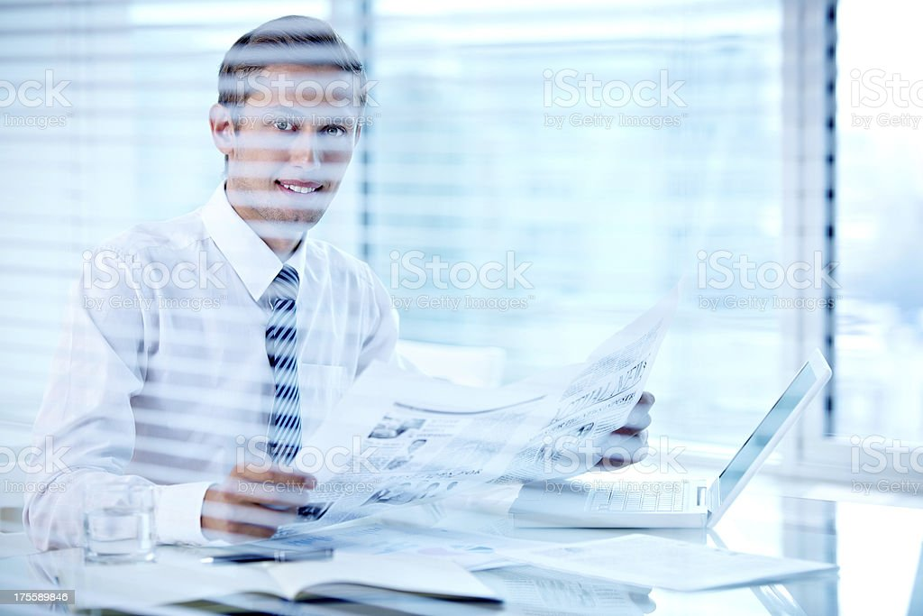 Positive manager royalty-free stock photo
