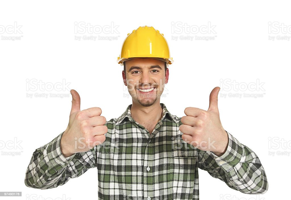 positive manual worker royalty-free stock photo