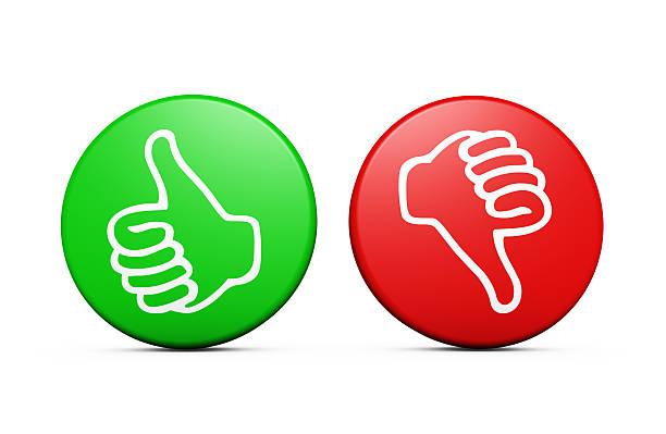 Positive Negative Customer Feedback Buttons stock photo