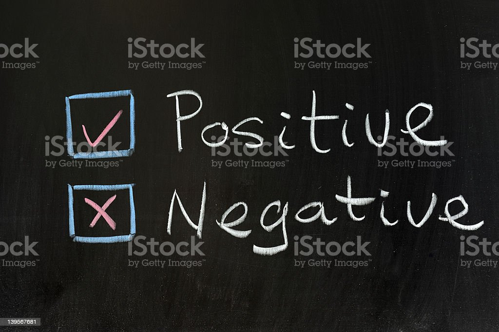 Positive or negative royalty-free stock photo