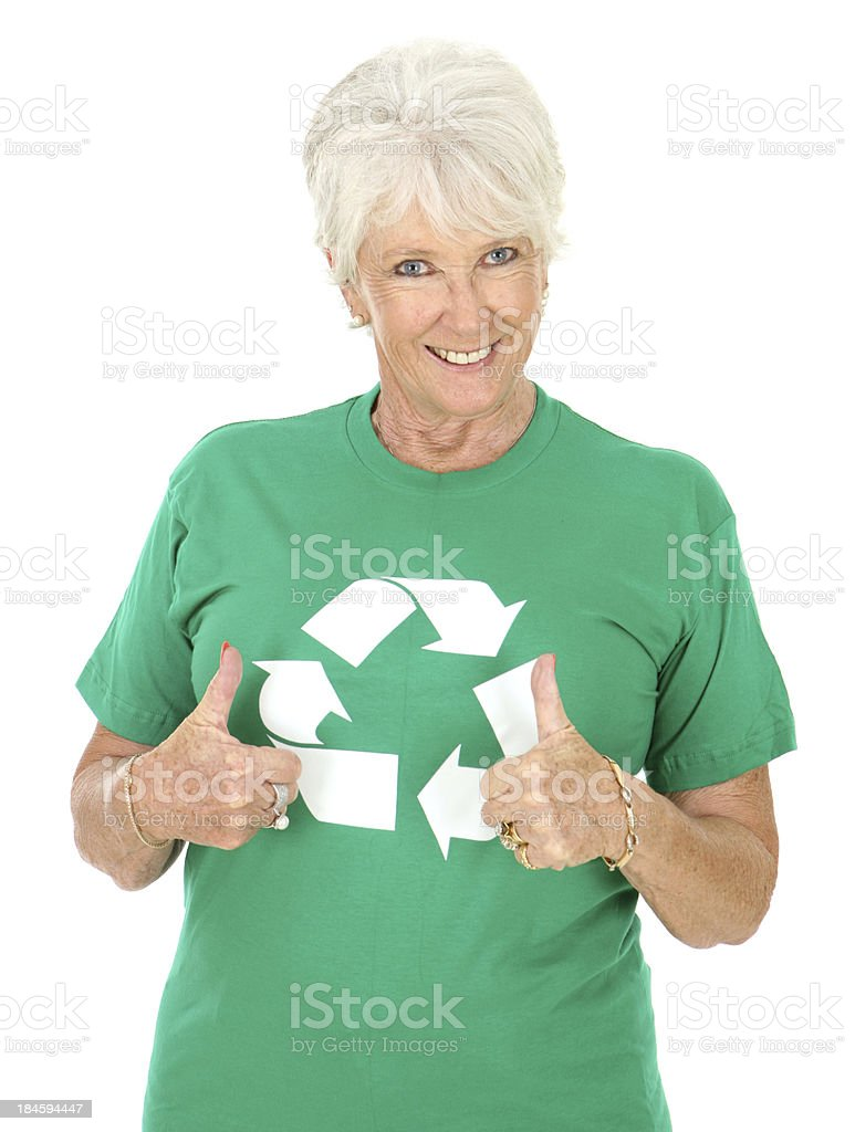 Positive Recycyling royalty-free stock photo
