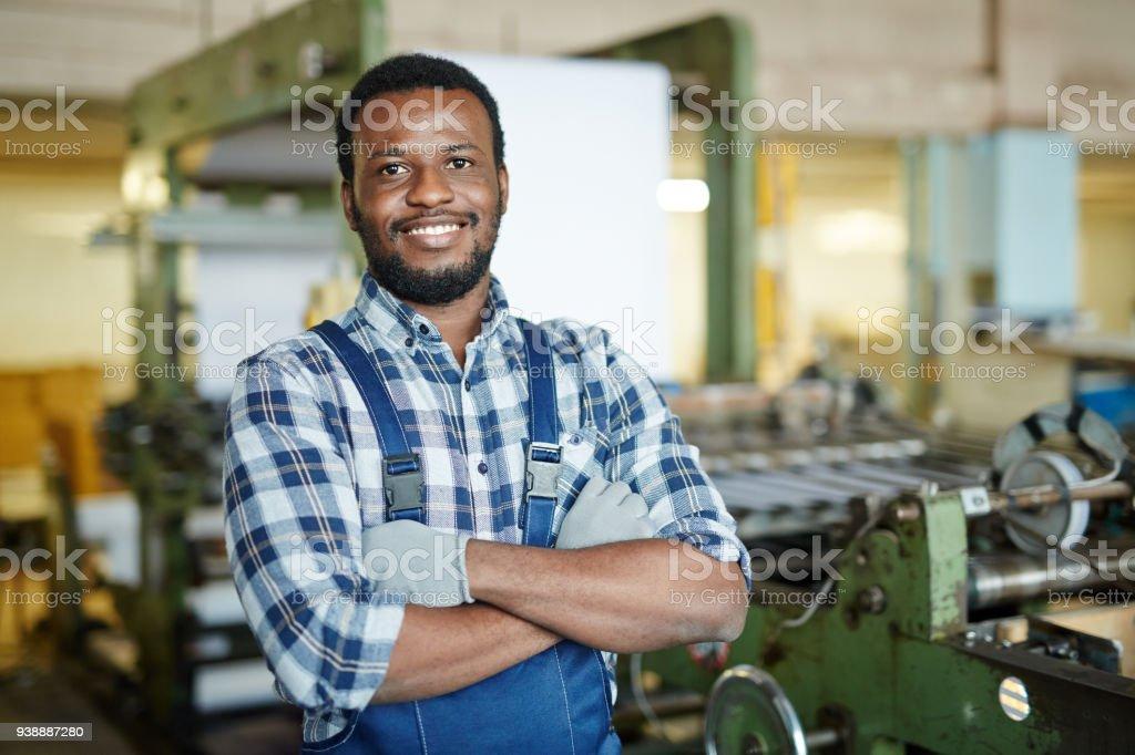 Positiven Mechaniker Prüfung Druckmaschine – Foto