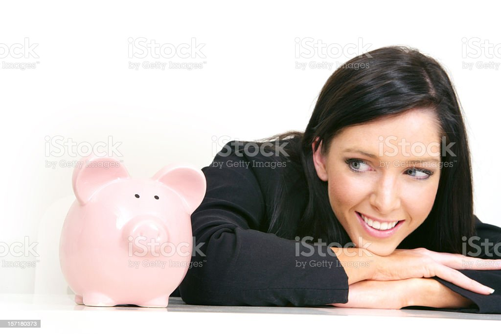 Positive Savings royalty-free stock photo
