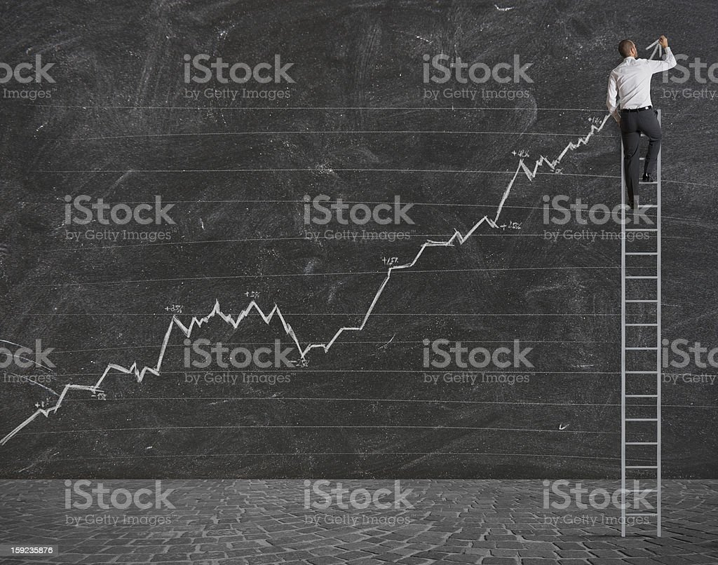 Positive statistical trend stock photo