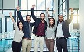 istock Positive teams produce positive outcomes 543573576