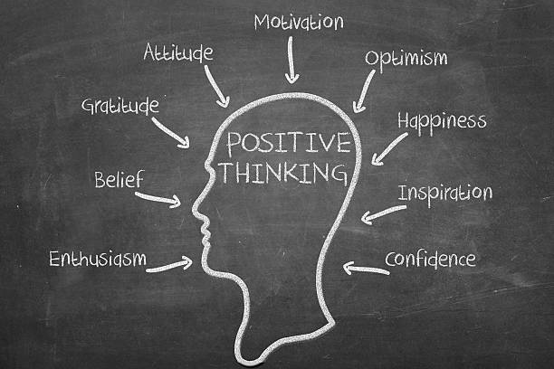 Positive thinking factors stock photo