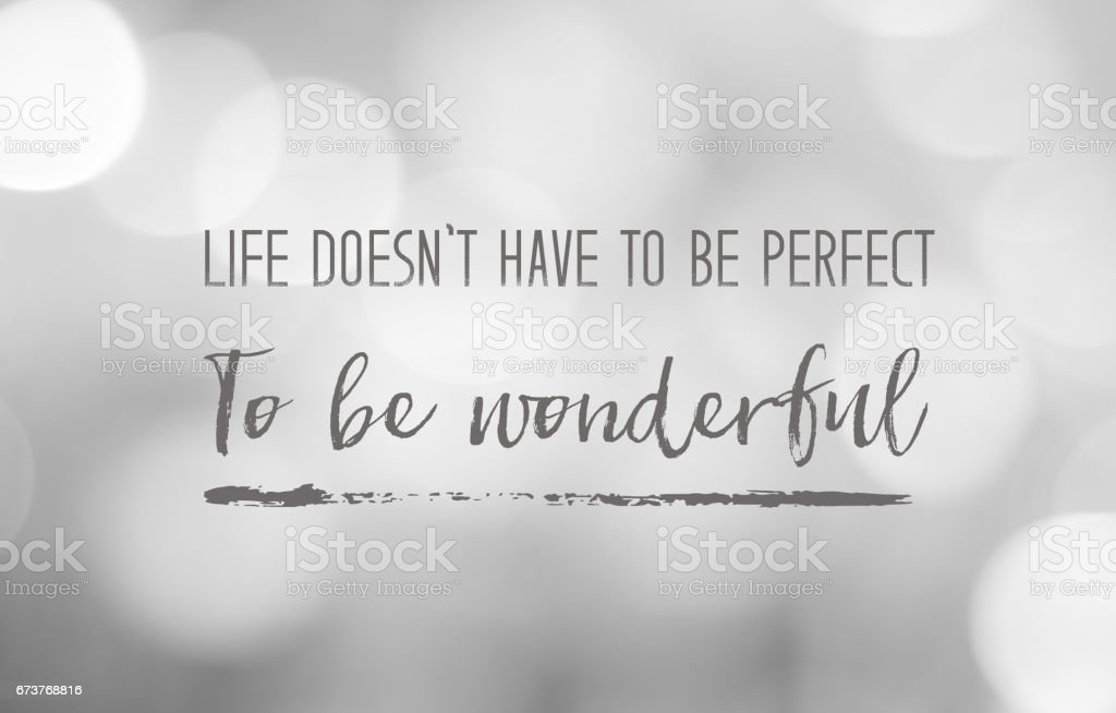 Positive thinking life quotation on black and white abstract blur background stock photo