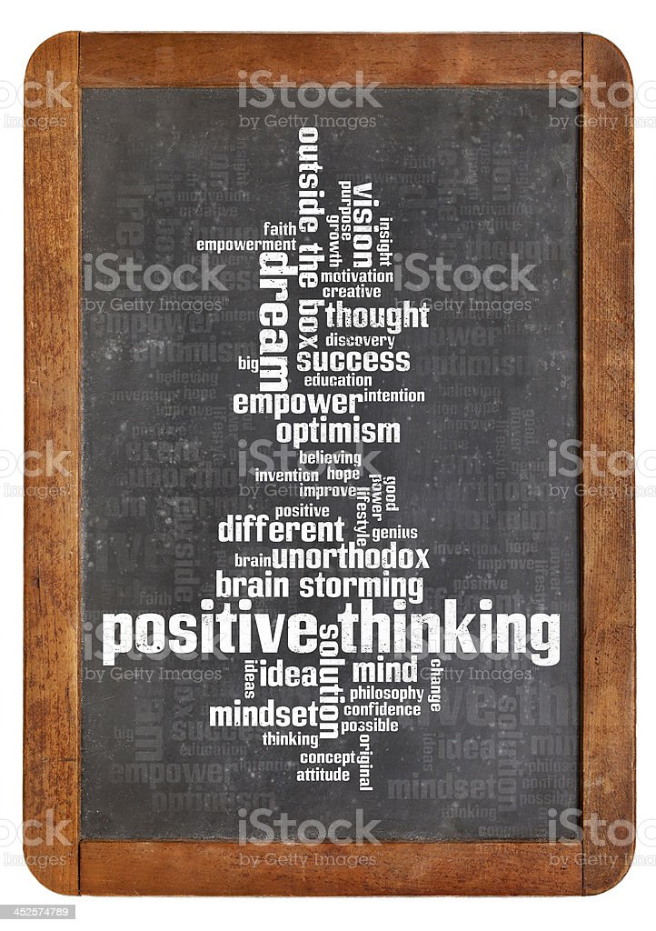 positive thinking word cloud royalty-free stock photo
