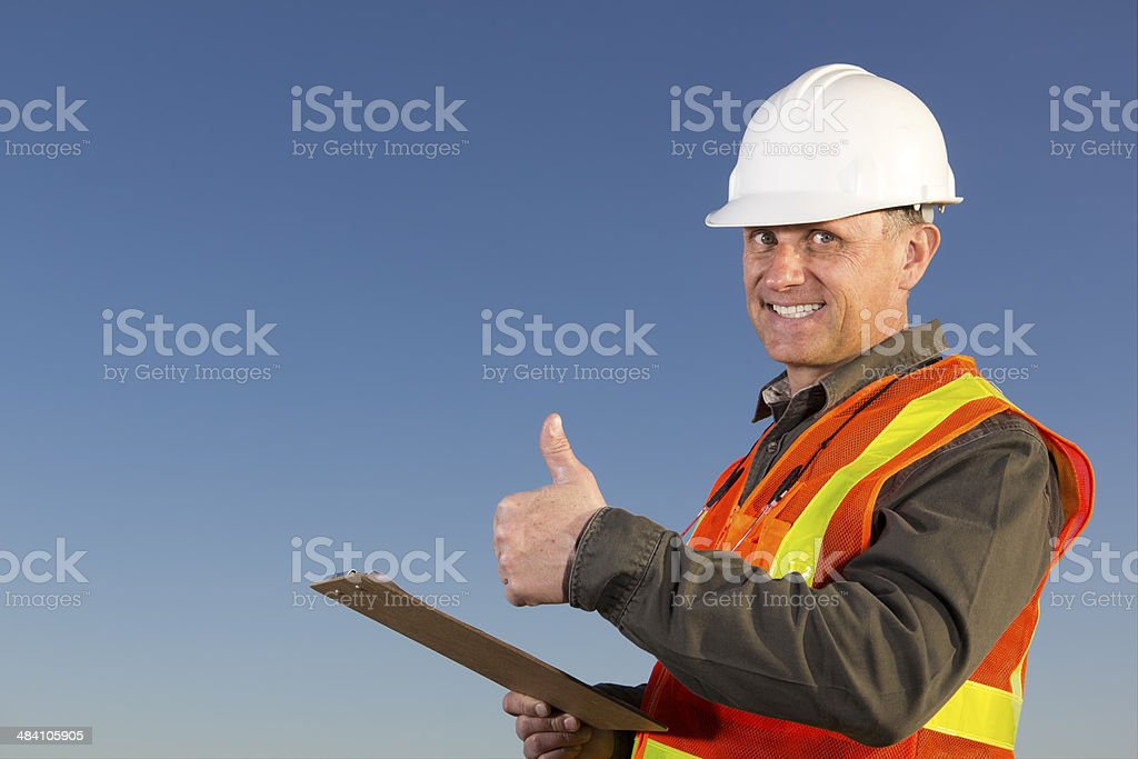Positive Worker royalty-free stock photo