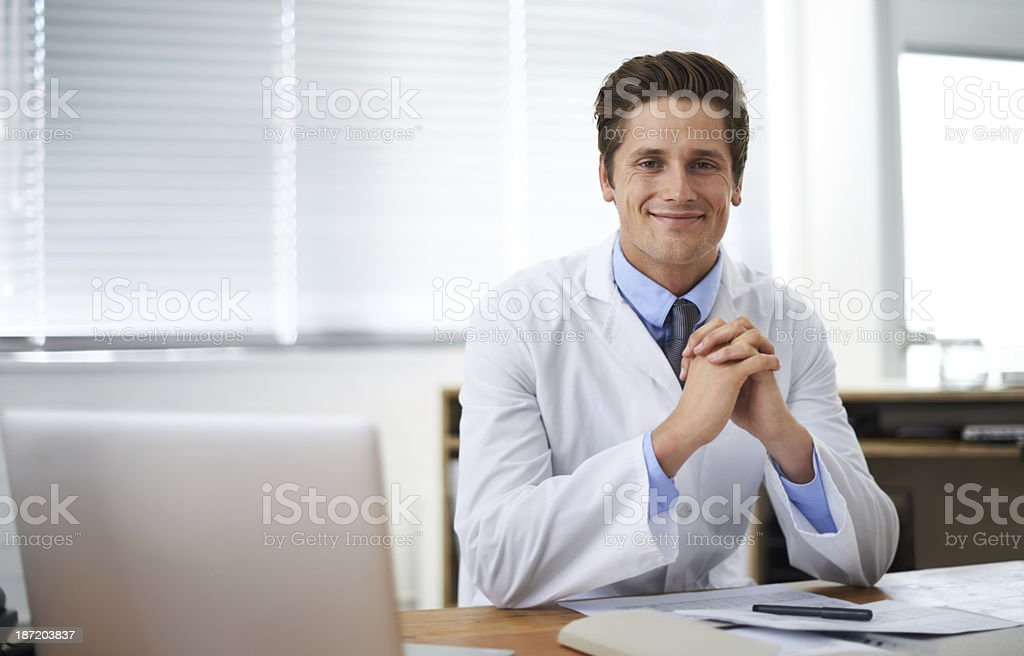 Positive young medical professional royalty-free stock photo