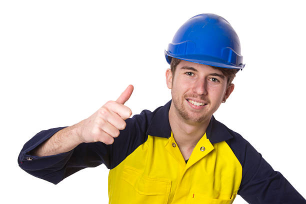 Positive Young Worker stock photo
