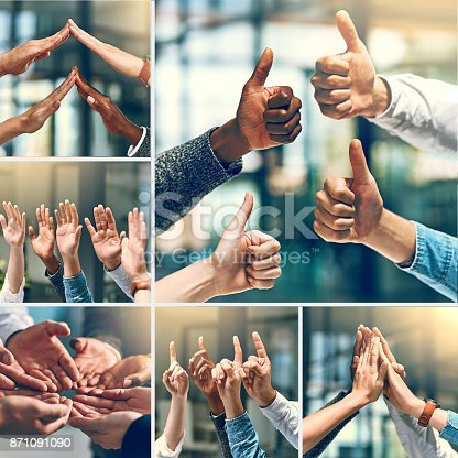 888892364istockphoto Positivity in a team makes a great team 871091090