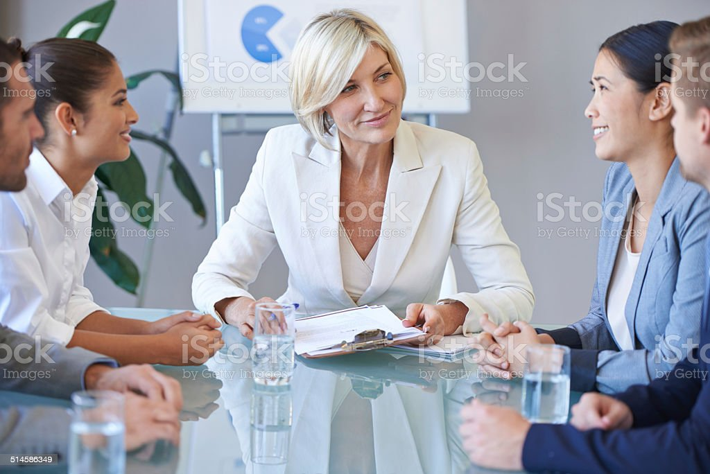 Positivity in the workplace stock photo