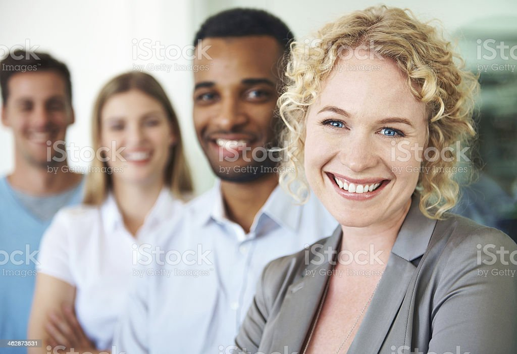 Positivity is their secret to success stock photo
