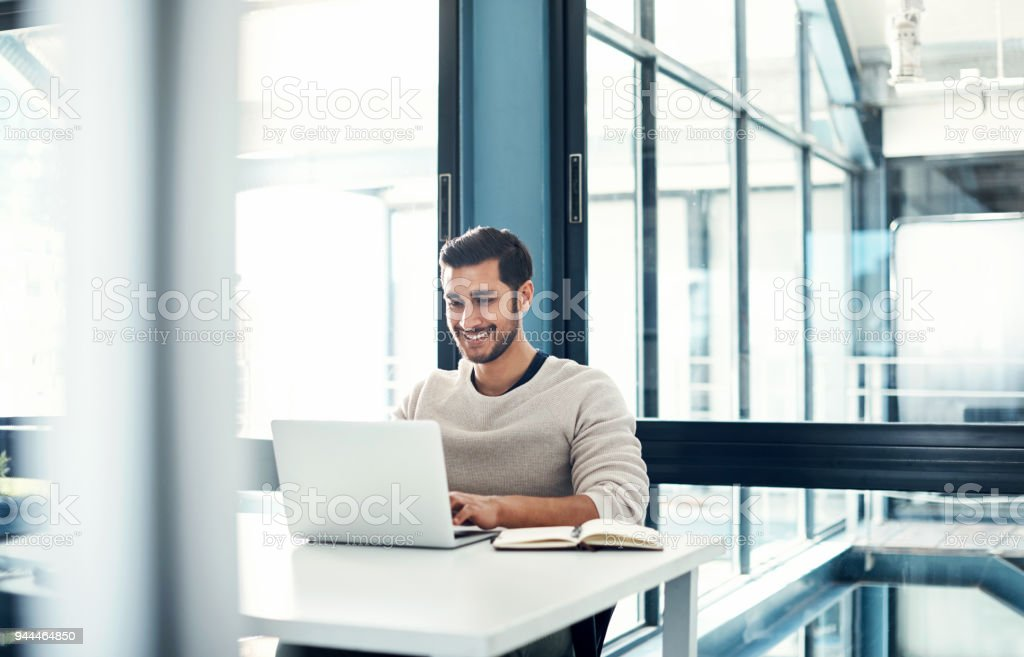 Positivity predicts productivity stock photo