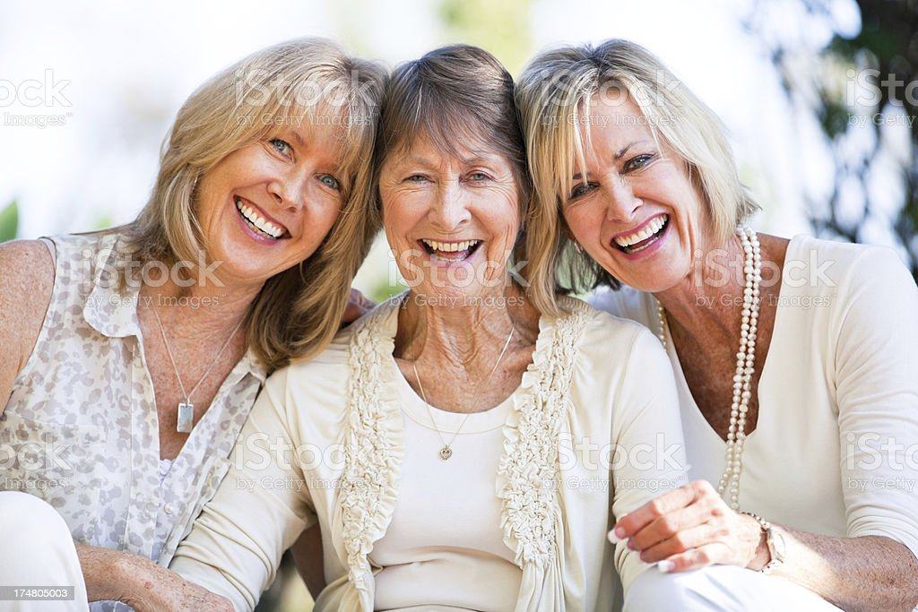 Positivity runs in their family stock photo