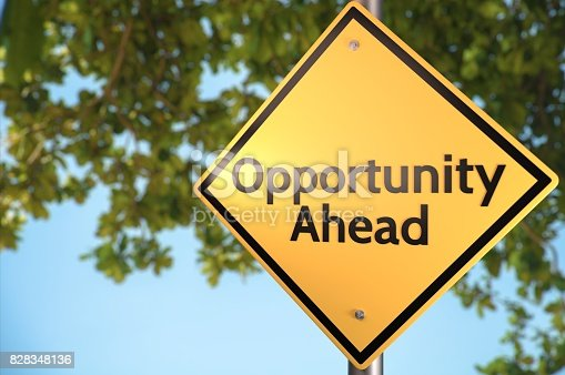 Road sign theme concepts - Opportunities.