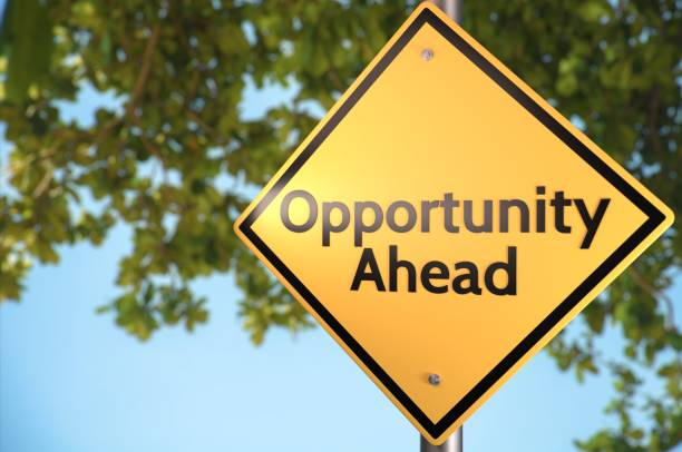 Possbile Opportunities Ahead. stock photo