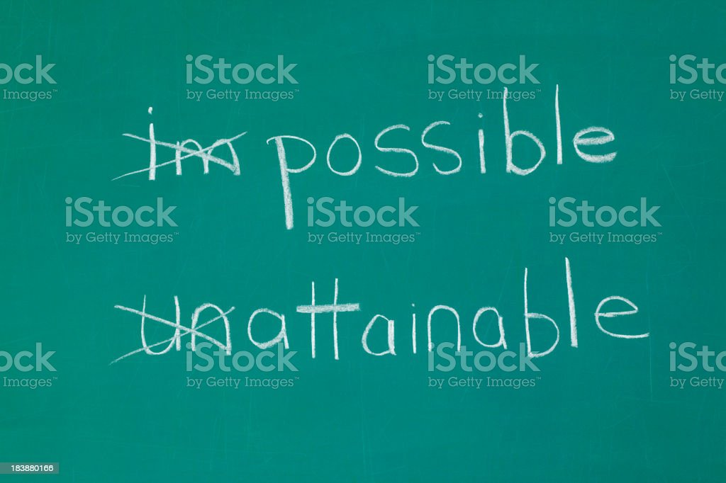 Possible and Attainable Chalk Drawing royalty-free stock photo