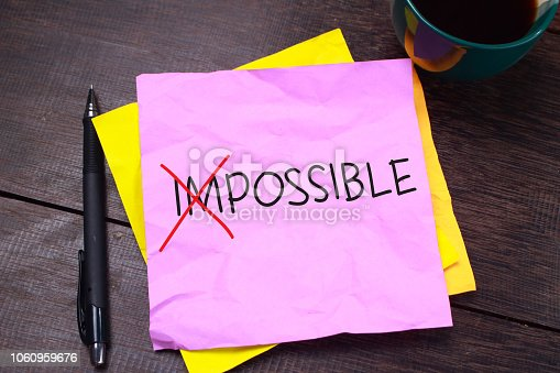 1068057246 istock photo Possible, Motivational Words Quotes Concept 1060959676